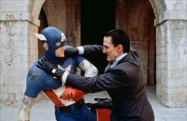 Matt Salinger and Scott Paulin in Captain America