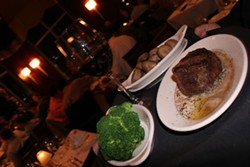 CATALINA KULCZAR - Mega-portions at Ruth's Chris Steakhouse.
