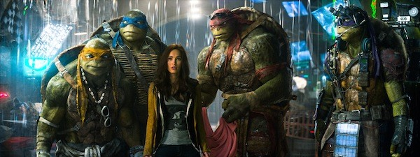 Megan Fox and friends in Teenage Mutant Ninja Turtles (Photo: Paramount)