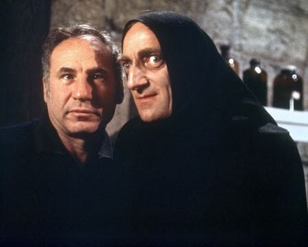 Mel Brooks (left, with Marty Feldman) discusses Young Frankenstein and other works in a new box set. (Photo: Shout! Factory & Fox)