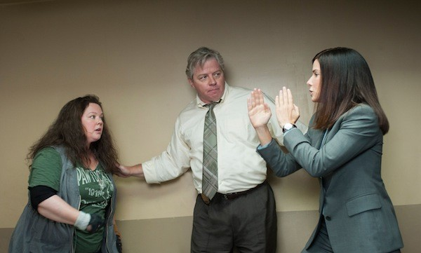 Melissa McCarthy, Tom Wilson and Sandra Bullock in The Heat (Photo: Fox)