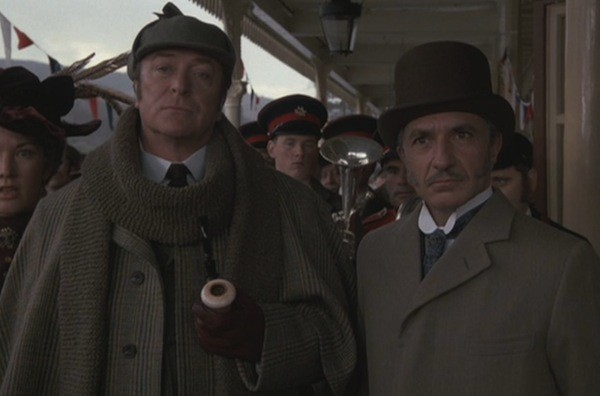 Michael Caine and Ben Kingsley in Without a Clue (Photo: Olive Films)