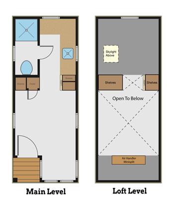 Mitchell's tiny house floor plan