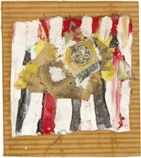 Mixed media collage by Alfred Leslie