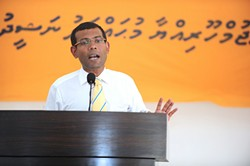 PRESIDENCY MALDIVES - Mohamed Nasheed is one of the world's leading voices against climate change