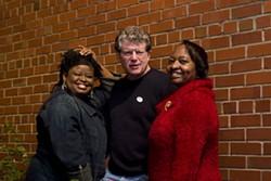 ANGUS LAMOND - Monica Simpson, Si Kahn and Alfreda Barringer of Grassroots Leadership