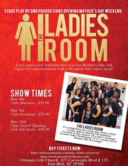 DNR STAGE PRODUCTIONS - Mother's Day Weekend Grand Opening of The Ladies Room Stage Play