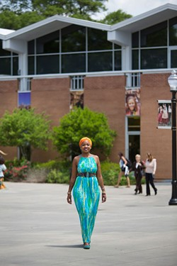 MEREDITH JONES - Mpumi Nobiva on the JCSU campus