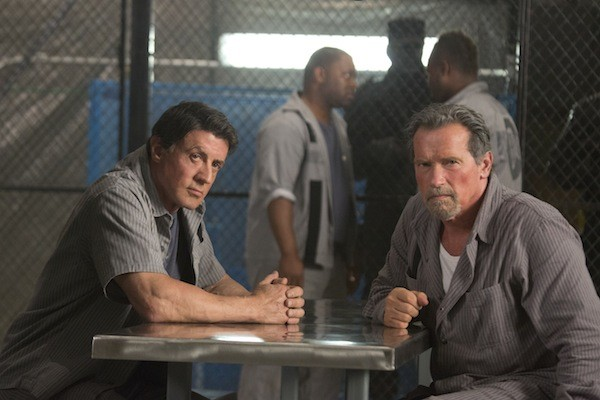 MUSCLE & FLOW: Arnold Schwarzenegger and Sylvester Stallone both star in Escape Plan, but only Arnie keeps the film moving. (Photo: Alan Markfield / Summit Entertainment)