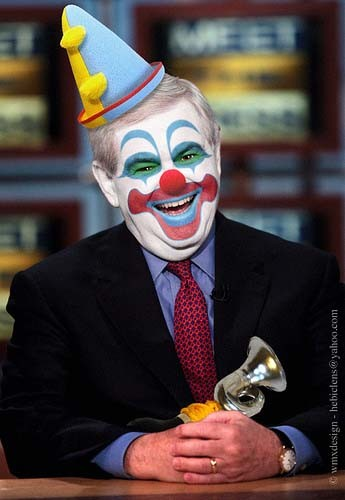 Newty the Clown thinks youll believe anything, including that hes popular