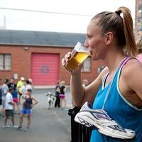 NoDa resident Stacia Caliano enjoys a NoDajito after a 3-mile run.