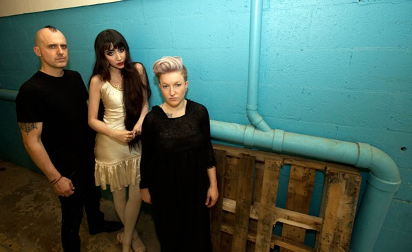 Nostalghia backstage at the Fillmore on May 15.