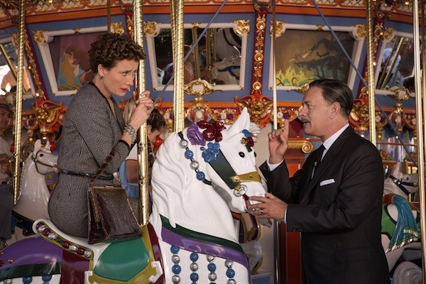 NOT HORSING AROUND: P.L. Travers (Emma Thompson) and Walt Disney (Tom Hanks) both lay down the law in Saving Mr. Banks. (Photo: Disney)