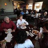 NOT SO BLUE: Patrons enjoying their meals at Blu Basil Café