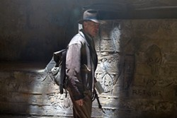 DAVID JAMES / PARAMOUNT & LUCASFILM LTD. - NOT YET WHIPPED: Harrison Ford in Indiana Jones and the Kingdom of the Crystal Skull