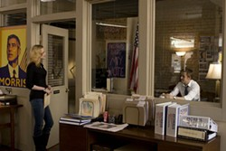 SAEED ADYANI / COLUMBIA PICTURES - OFFICE POLITICS: Evan Rachel Wood and Ryan Gosling in The Ides of March