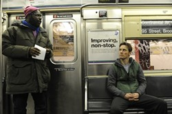 FOX SEARCHLIGHT - ON BOARD: Writer-director Steve McQueen (left) and Michael Fassbender on the set of Shame.