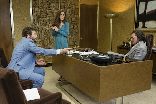 Oscar nominees Bradley Cooper, Amy Adams and Christian Bale in American Hustle. (Photo: Columbia Pictures)