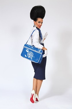 PAM ANN - PAM ANN MAKES THE GOING GREAT: Comedian Caroline Reid as her flight attendant alter ego