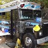 Pantherfanz tailgate in style in their souped-up school bus