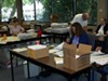 <p>PAPER TRAIL: Mecklenburg County Board of Elections staff process voter requests </p>