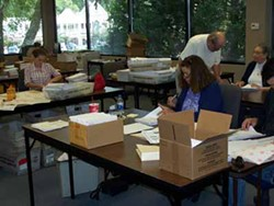 KAREN SHUGART - PAPER TRAIL: Mecklenburg County Board of Elections staff process voter requests
