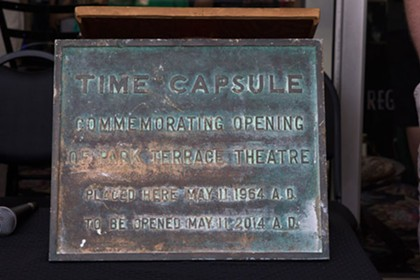 Park Terrace Theater time capsule opening, 5/11/14