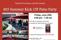 Patio Party at M5, Friday 6/25