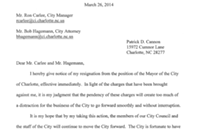 Patrick Cannon has resigned as Charlotte's mayor