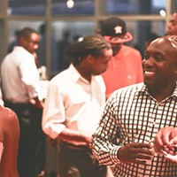 Patrons at the August edition of Charlotte's Favorite Happy Hour at the Gantt Center.