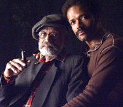 MICHAEL O'CONNOR / SONY PICTURES CLASSICS - PEEBLES AND BAM-BAM Mario Van Peebles poses - with his dad Melvin Van Peebles, whose violent - Sweet Sweetback's Baadasssss Song led to - an indie uprising