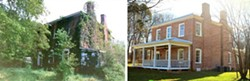 Peter Kern House, 2015 Preservation Award Winner, Before and After Photo