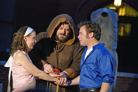 Peter Smeal (center) as Friar Laurence in Romeo and Juliet, 2008.