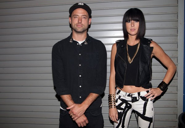Phantogram backstage at the Fillmore on June 25.