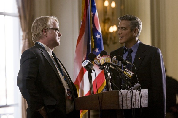 Philip Seymour Hoffman and George Clooney in The Ides of March