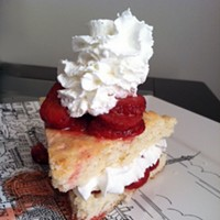 Summery strawberry shortcake