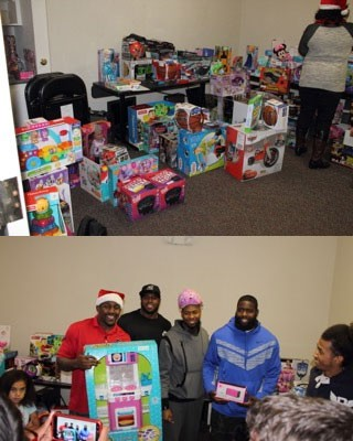 Photos from a recent toy drive for the Citiside neighborhood, sponsored by the Thomas Davis Defending Dreams Foundation and Give N Go