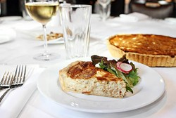 ASHLEY GOODWIN - PIÈCE DE RÉSISTANCE: The goat cheese and caramelized onion tart at Georges Brasserie