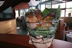 CATALINA KULCZAR - Pickled shrimp in a mason jar at Currents