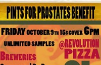 Pints for prostates benefit, Friday, Oct. 9