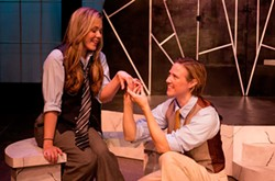 CHICKSPEARE - PLAY ON: Alex Lee as Viola (left) and Andrea King as Orsino in Twelfth Night