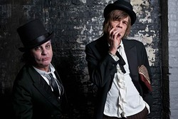 PLAYING WITH DOLLS: Sylvain Sylvain (left) and David Johansen