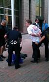 Police arrest protester at BofA