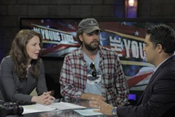 ROSKE ENTERTAINMENT - POLITICAL PALAVERING: Robin Weigert, Brent Roske and Cenk Uygur