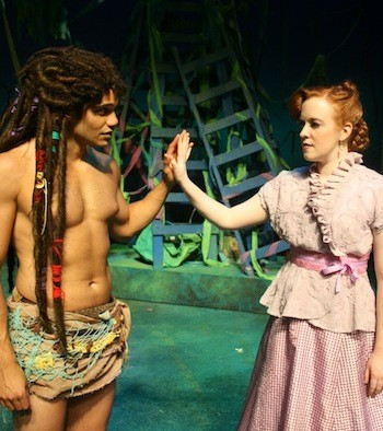 Polly Hilton and Isaac Gay in Tarzan.
