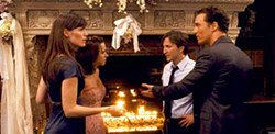 NEW LINE CINEMA - PRENUPTIAL DISAGREEMENT: Jenny (Jennifer Garner), Sandra (Lacey Chabert), Paul (Breckin Meyer) and Connor (Matthew McConaughey) engage in a heated discussion in Ghosts of Girlfriends Past.