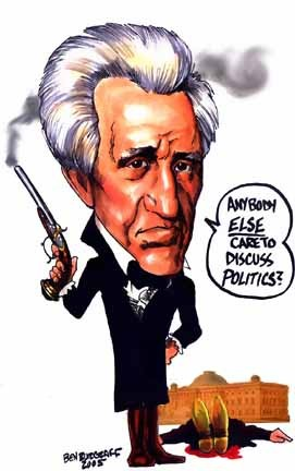 Pres. Andrew Jackson: no patience for nullifiers