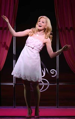 JOAN MARCUS - PRETTY IN PINK: Becky Gulsvig as Elle Woods in Legally Blonde: The Musical