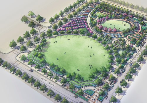 Proposed design of Romare Bearden Park