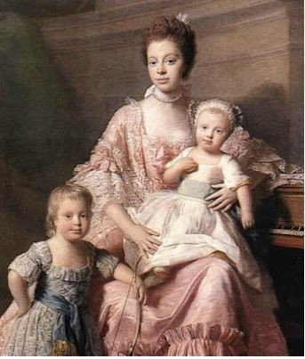 Queen Charlotte and a few of her children.